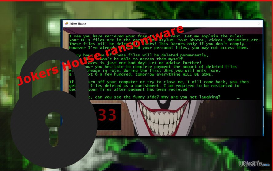 decrypt data locked by Jokers House virus