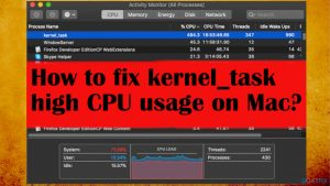 How to fix kernel_task high CPU usage on Mac?