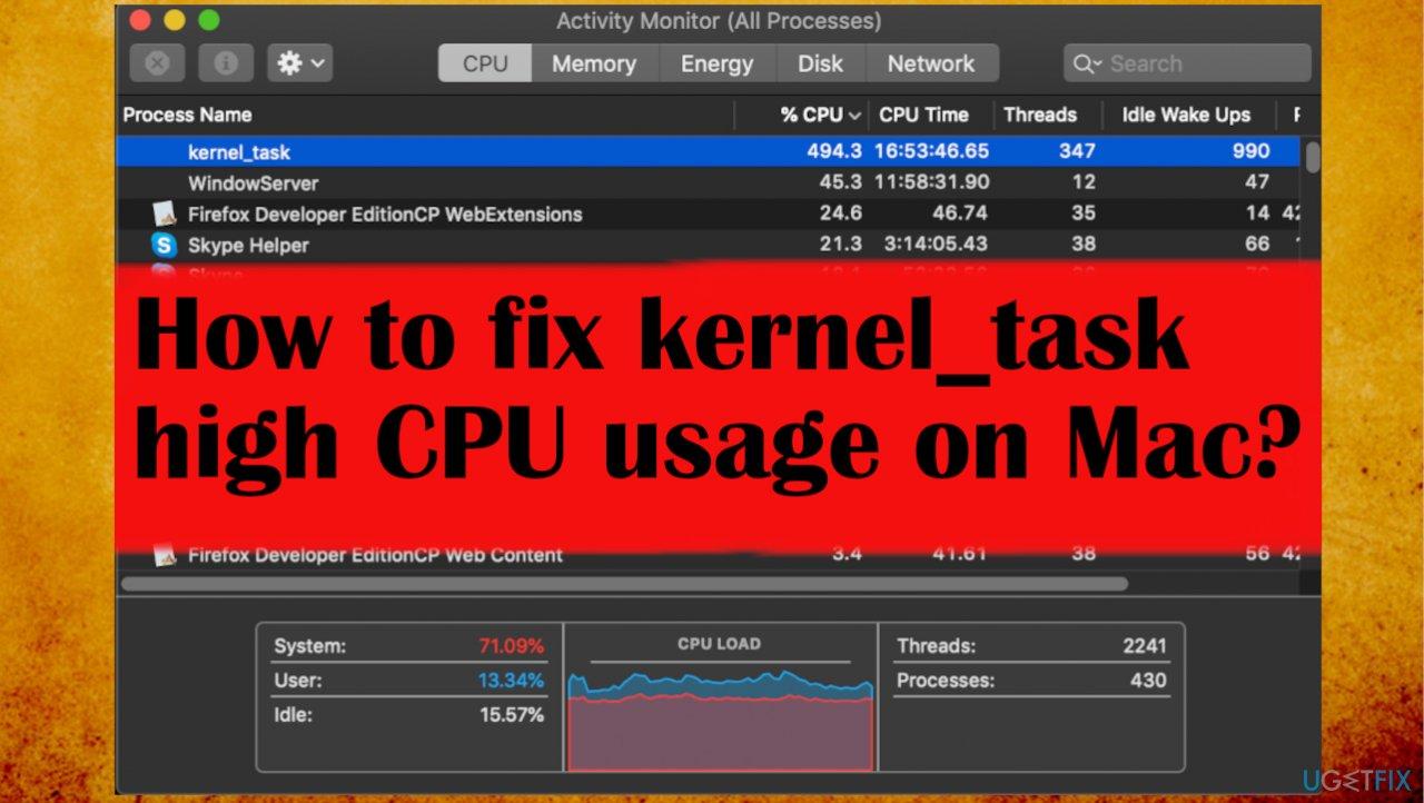 kernel_task high CPU usage fix