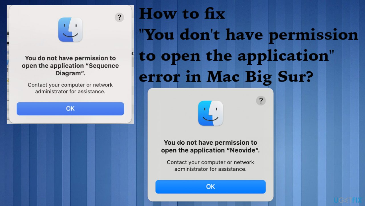 """""""You don't have permission to open the application"""""""
