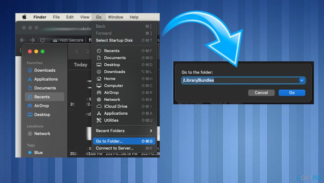 Go to Folder option