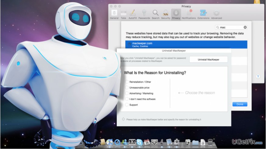 An image of the MacKeeper removal process