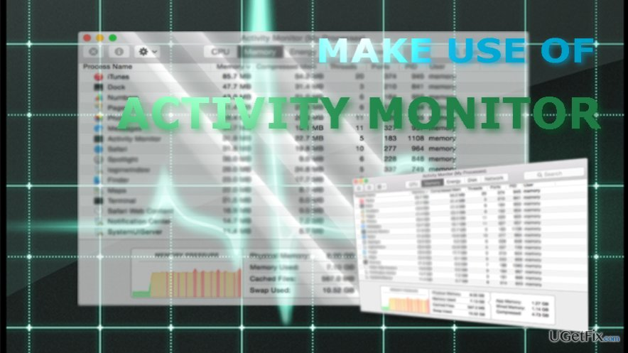 Activity Monitor grants you a diverse choice of functionalities