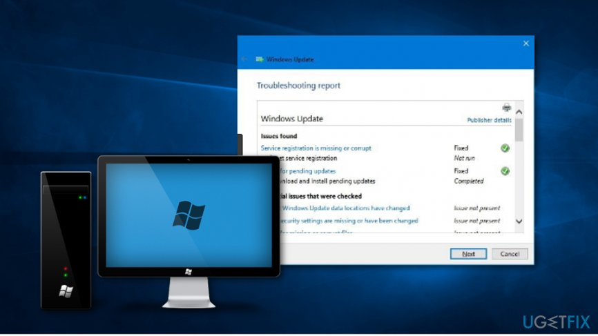 Fix Windows Update Error 0x80070543 by running the Windows Update Troubleshooter