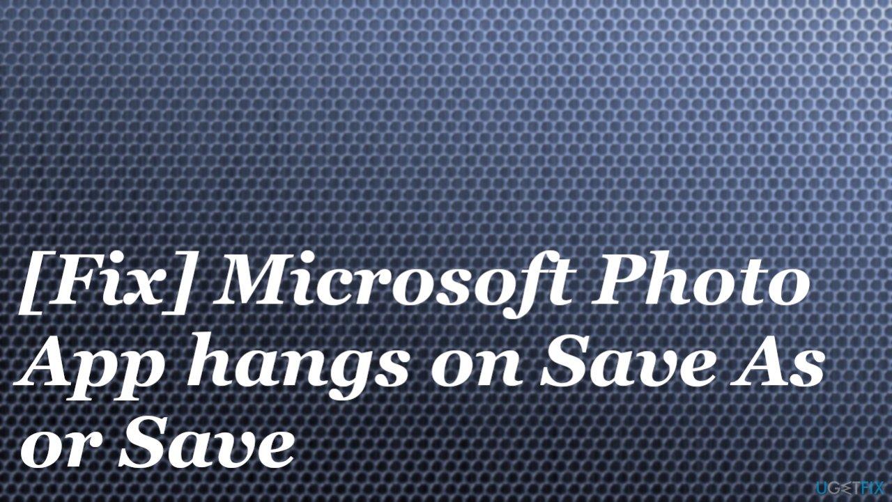 Microsoft Photo App issue
