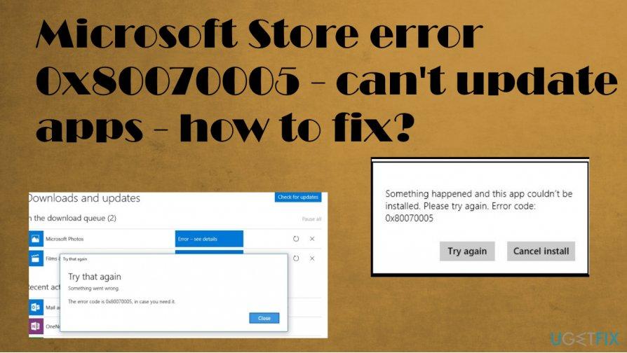Microsoft Store error 0x80070005