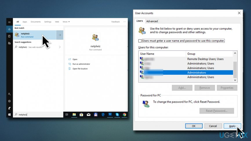 How to fix missing User and Password Prompt on Windows login