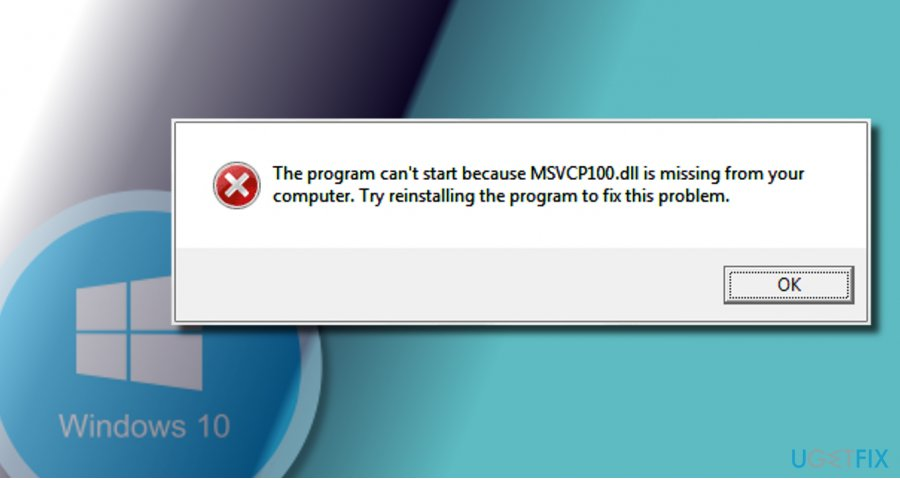 "showing ""MSVCP110.dll is missing"" error"