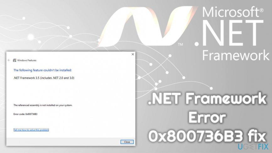 .NET Framework Error 0x800736B3 fix
