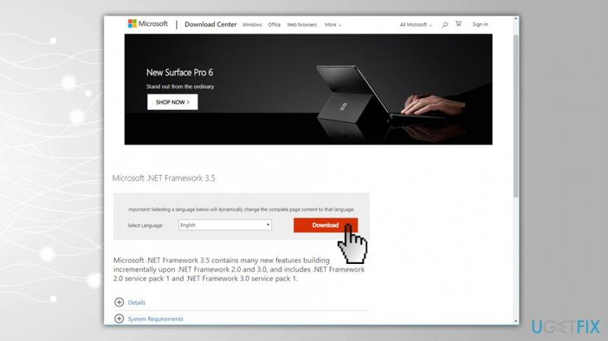 Reinstall .NET Framework 3.5