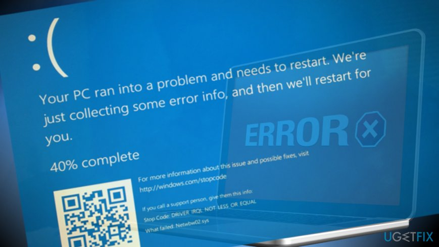 Printscreen of netwbw02.sys BSOD
