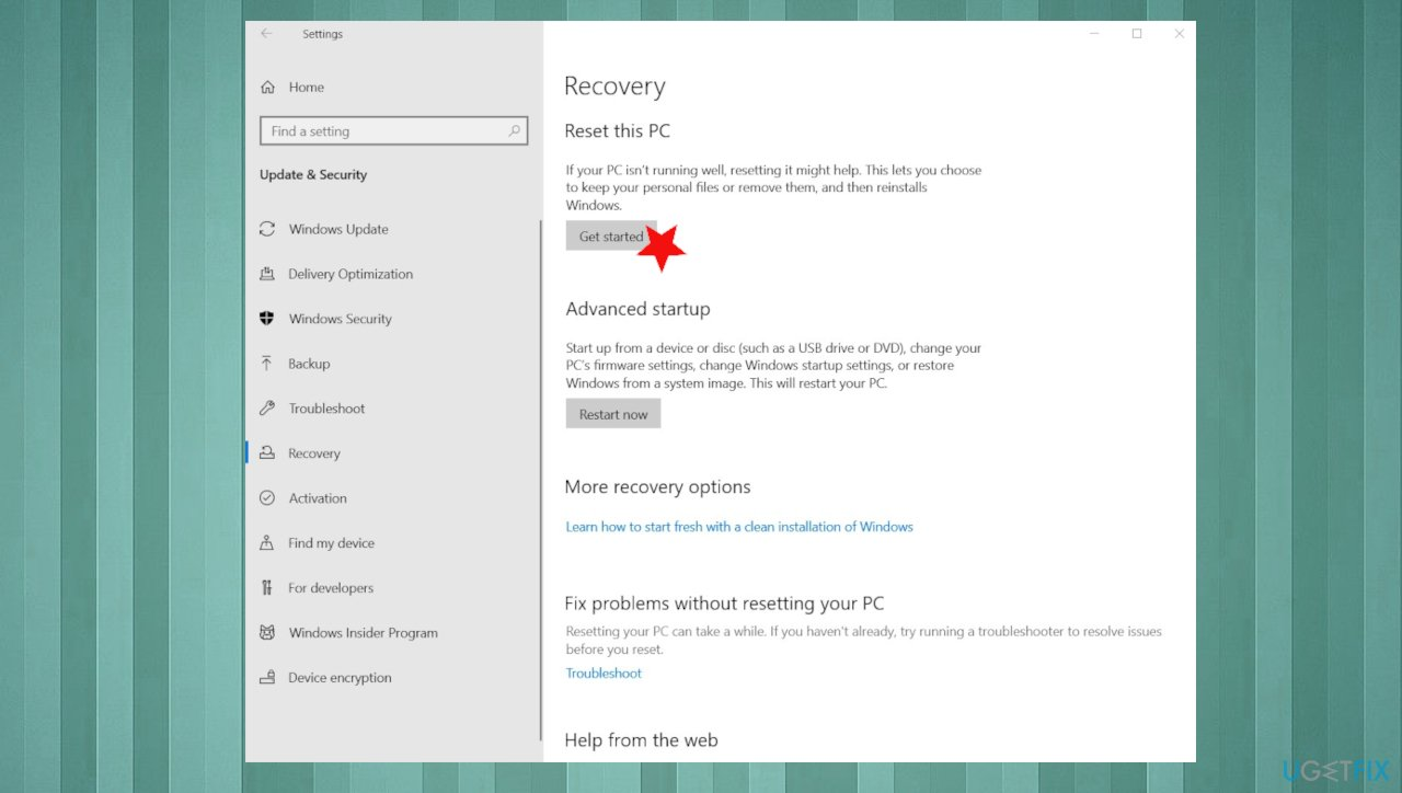 Reset the PC