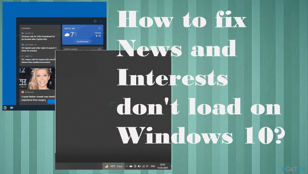News and Interests don't load on Windows