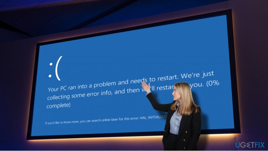 A picture of Ntkrnlmp.exe BSOD