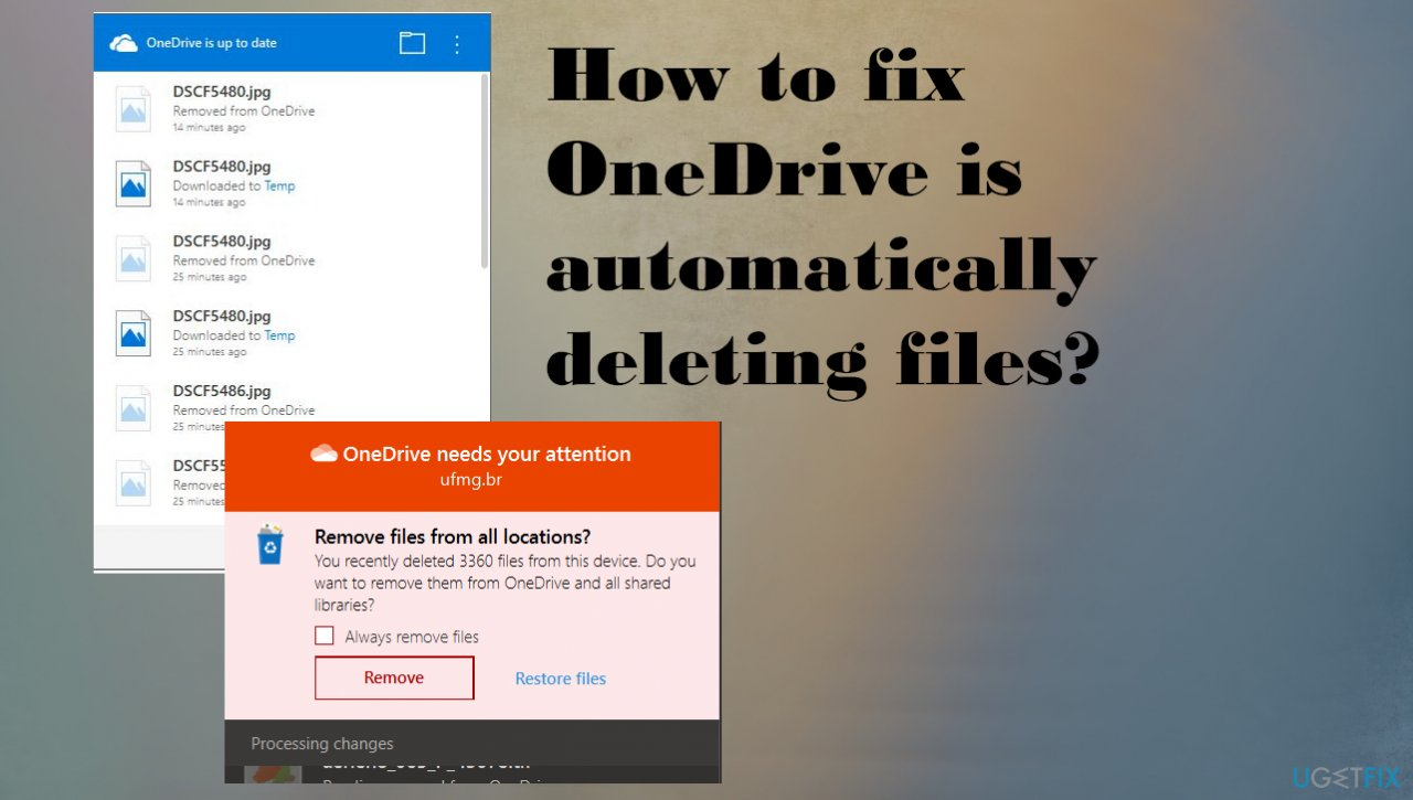 OneDrive is automatically deleting files?