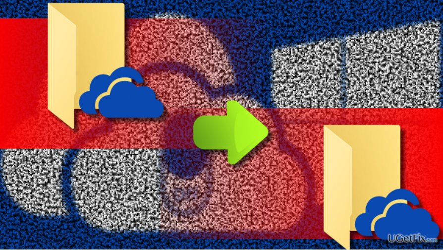 illustrating OneDrive folder movement