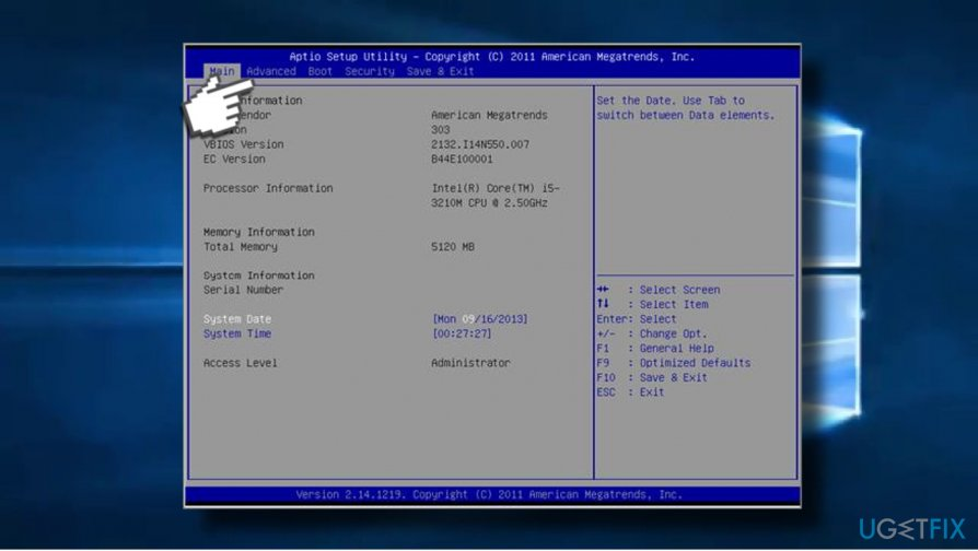 Open Windows BIOS