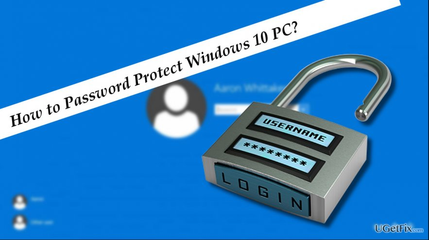 an illustration of Windows 10 password protection