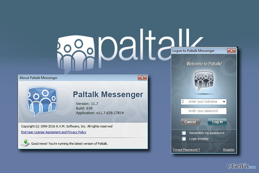 Patalk Messenger is easy to install and remove from the PC