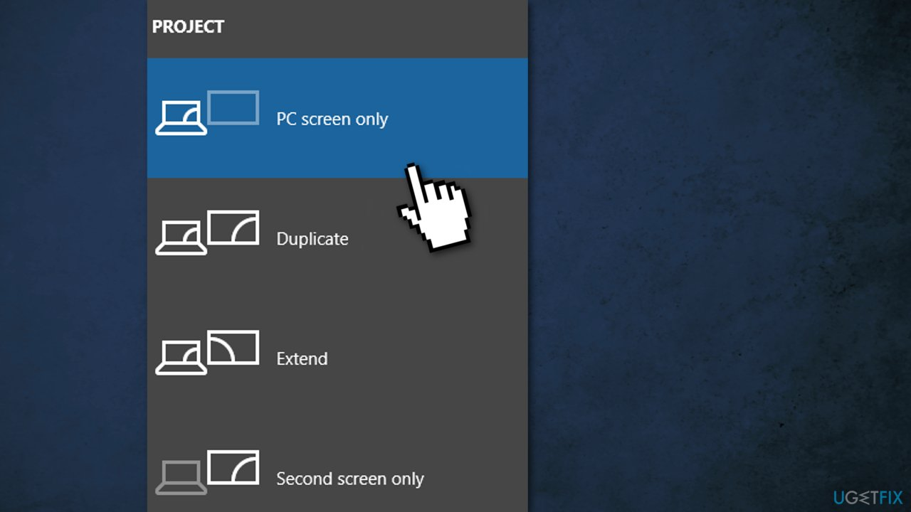PC screen only
