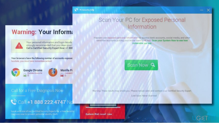 PCPrivacyProtect & PC Security Help removal instructions
