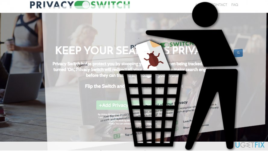 Depiction of Privacy Switch removal