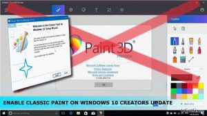 How to Enable Classic Paint on Windows 10 Creators Update?
