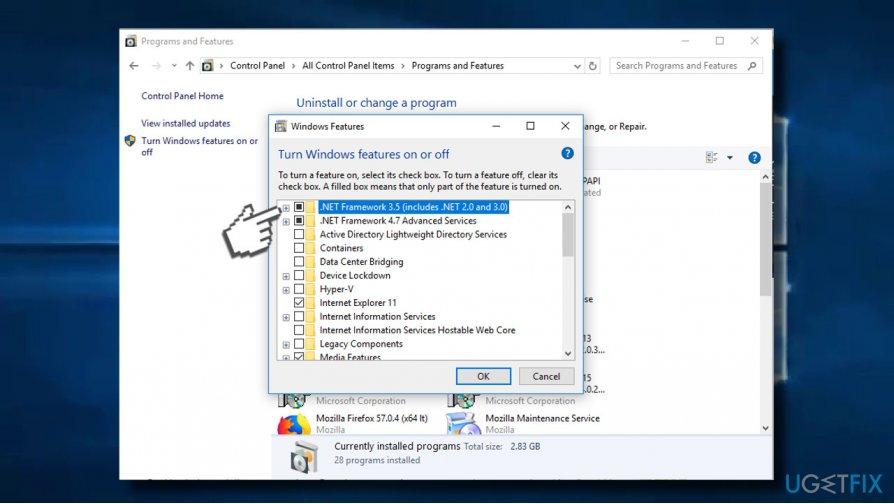 re-enable NET Framework 3.5