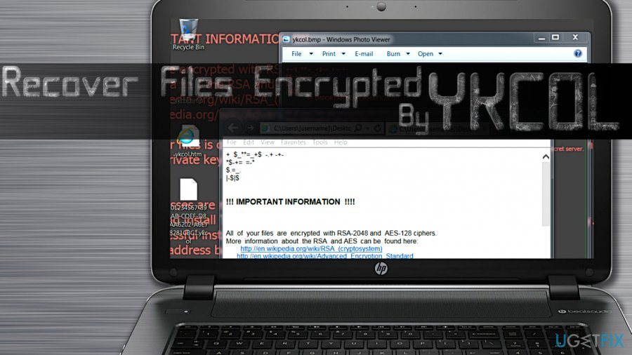 Recover Files Encrypted by Ykcol