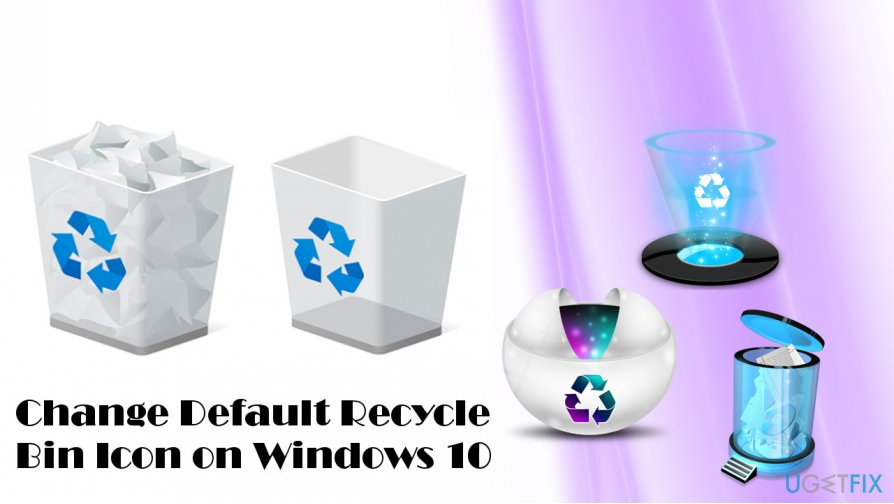 Illustrating default Windows 10 Recycle Bin icon