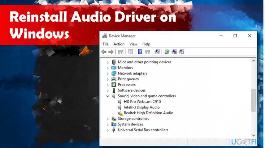 How to Reinstall Audio Drivers on Windows 10?