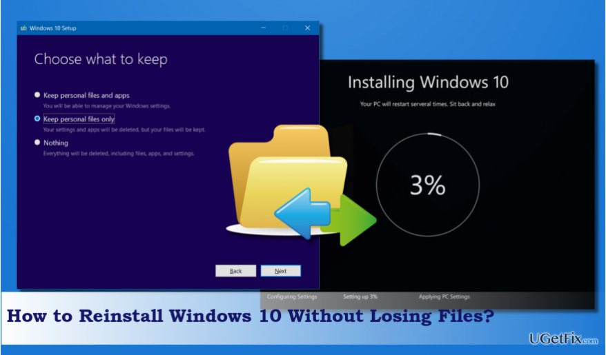 an illustration of Windows 10 reinstall