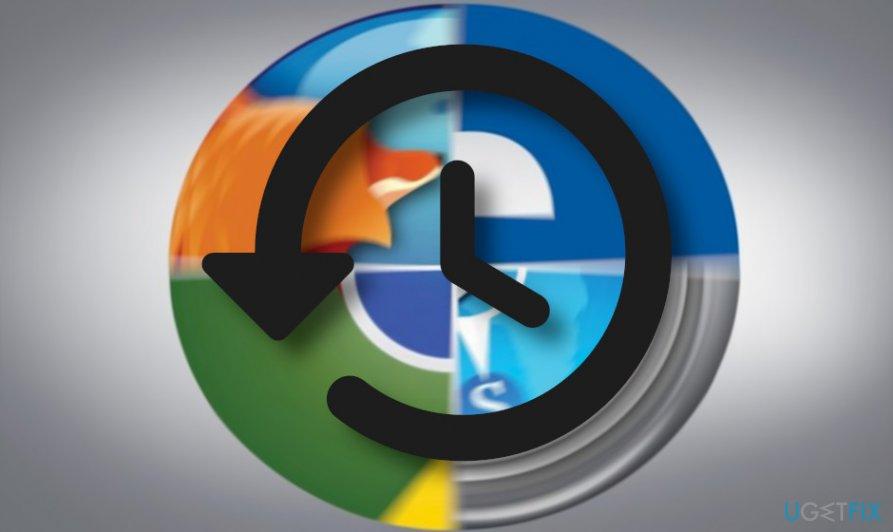 Delete web browser's history