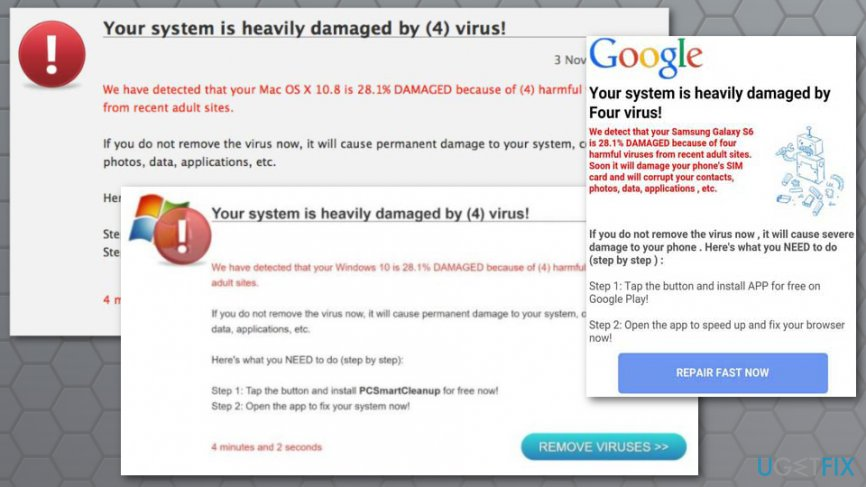 Remove Four virus