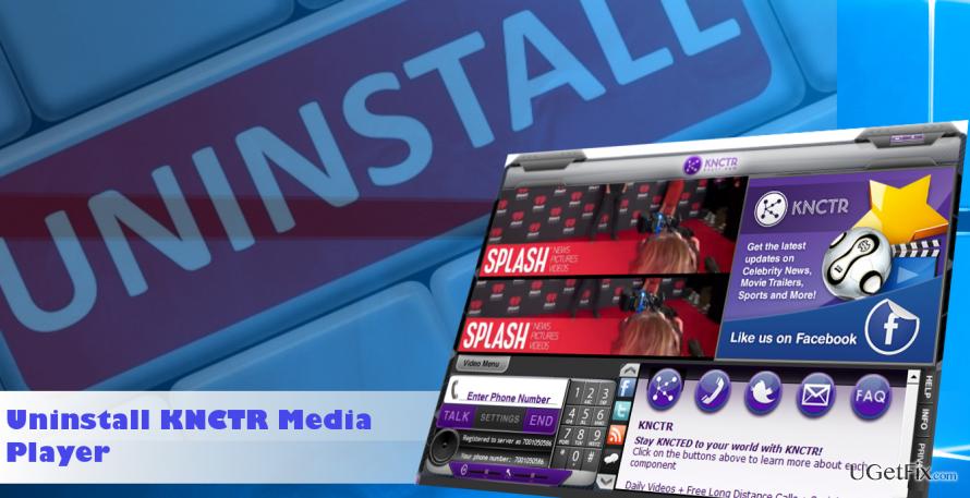 a printscreen of KNCTR Media Player