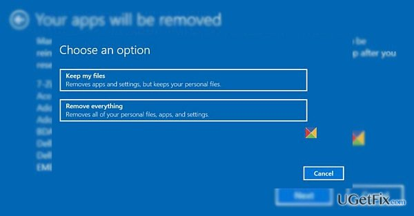 "AfterAfter uninstalling Get Office app, ""Reset this PC"" works again"