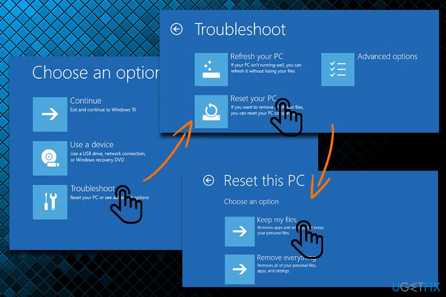Reset your PC without losing files