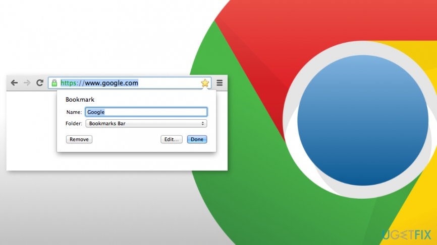 Restore deleted bookmarks in Google Chrome