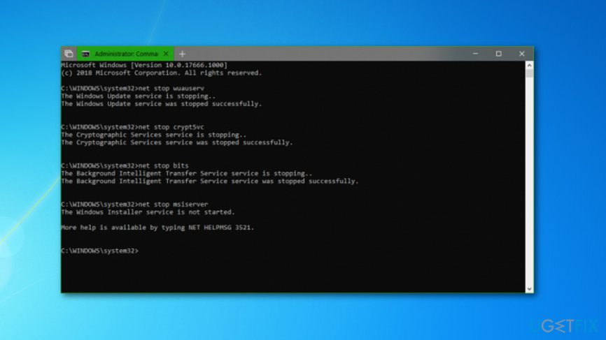 Get rid of Update Error Code 0x80240fff from Windows 10