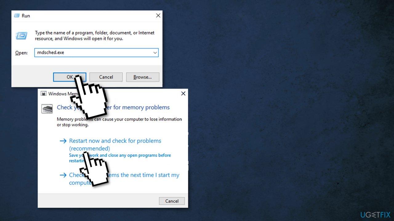 Run Memory Diagnostic Tool