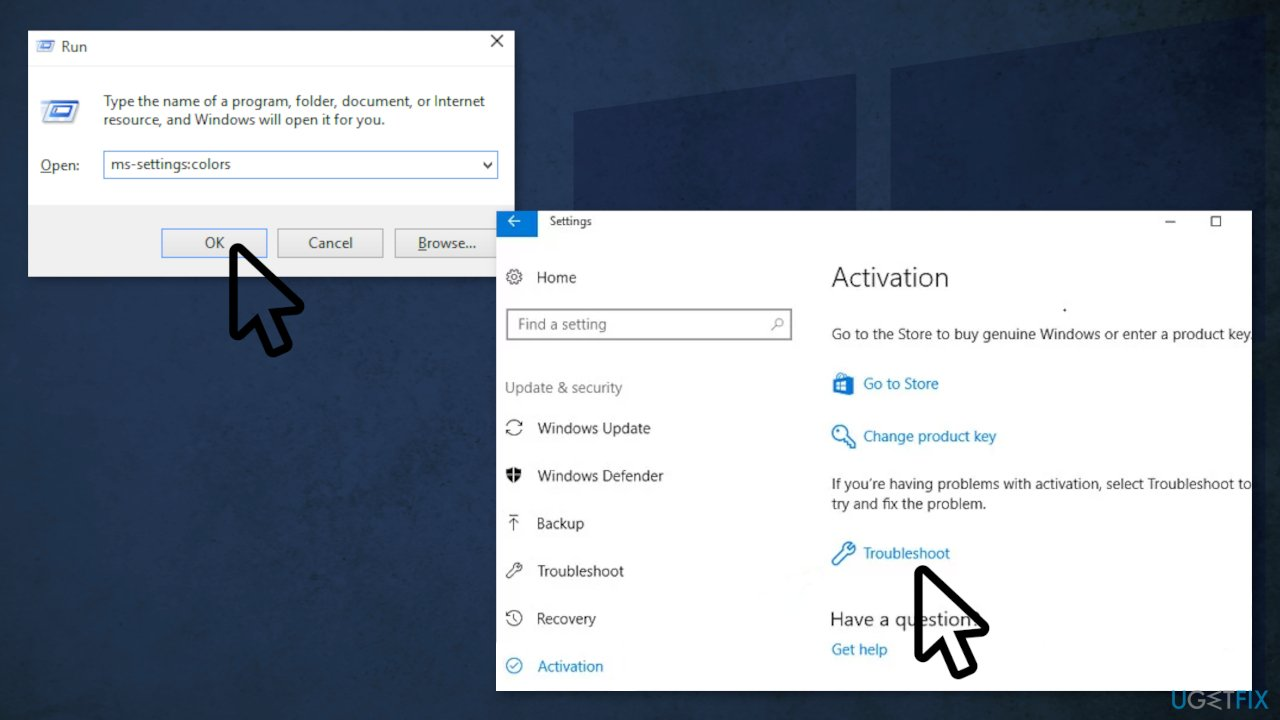 Run the Activation Troubleshooter