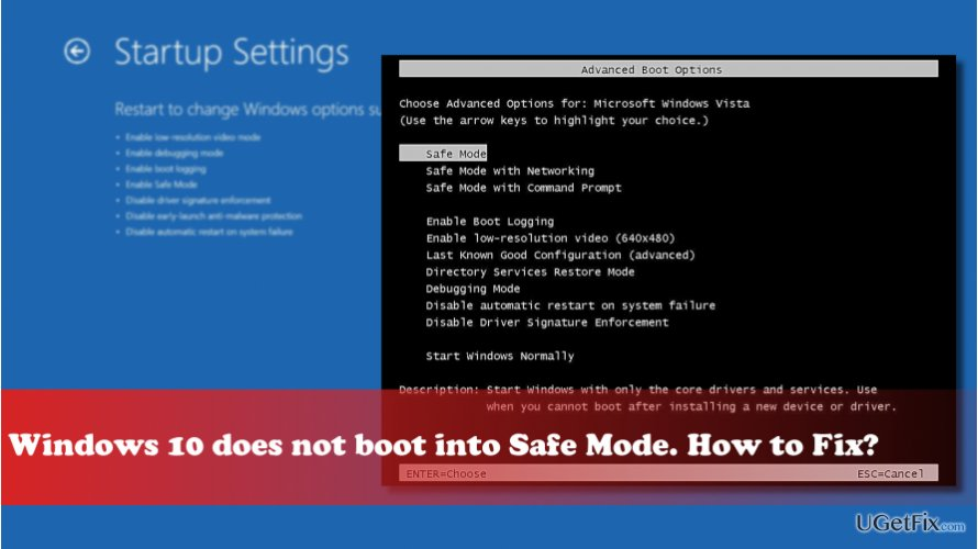 open windows 10 in safe mode