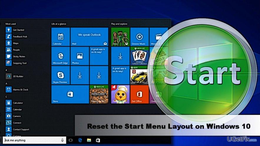 How to Reset Start Menu Layout on Windows 10?