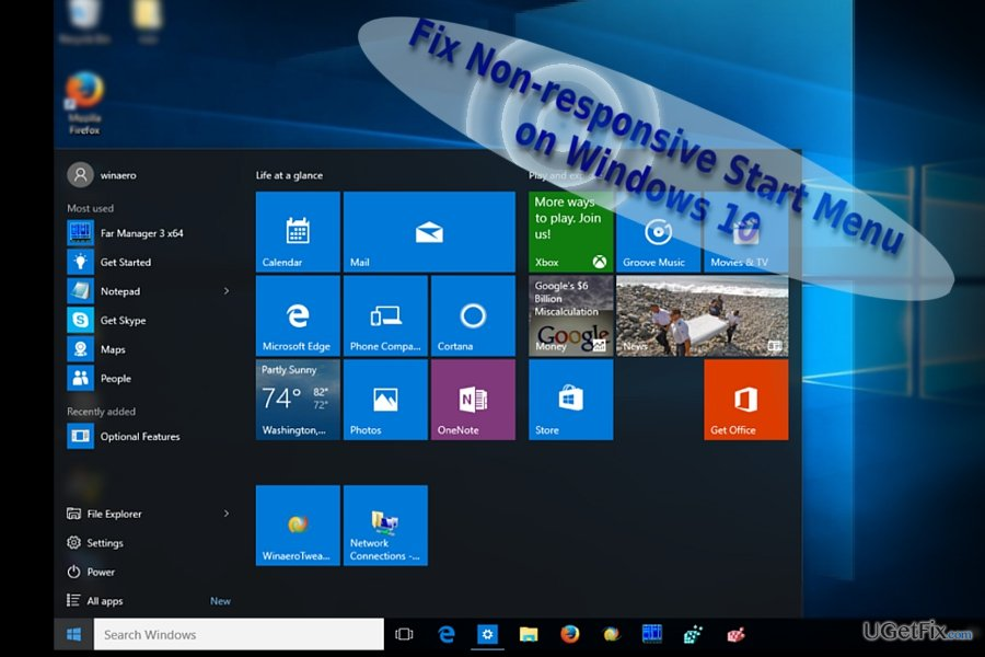 Start Menu may not work due to different reasons
