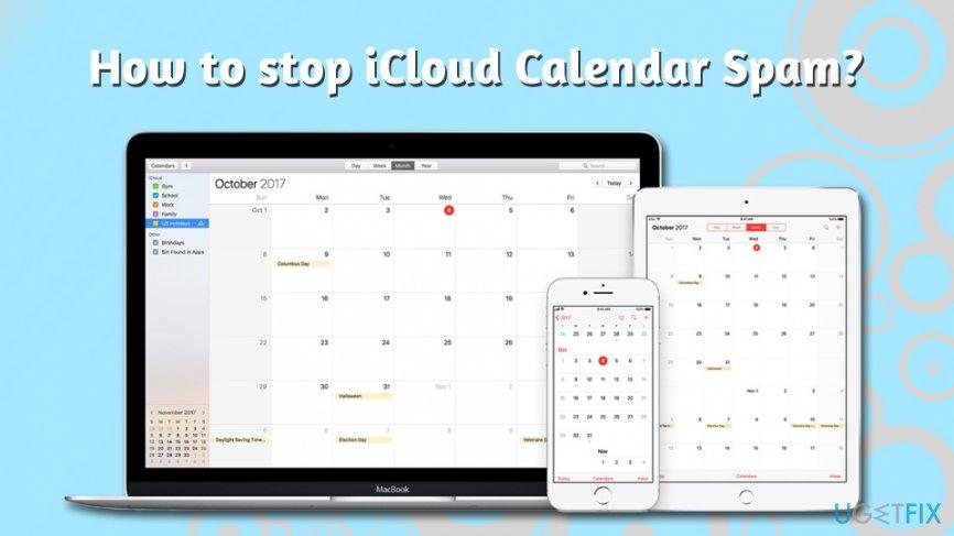 How to stop iCloud Calendar Spam