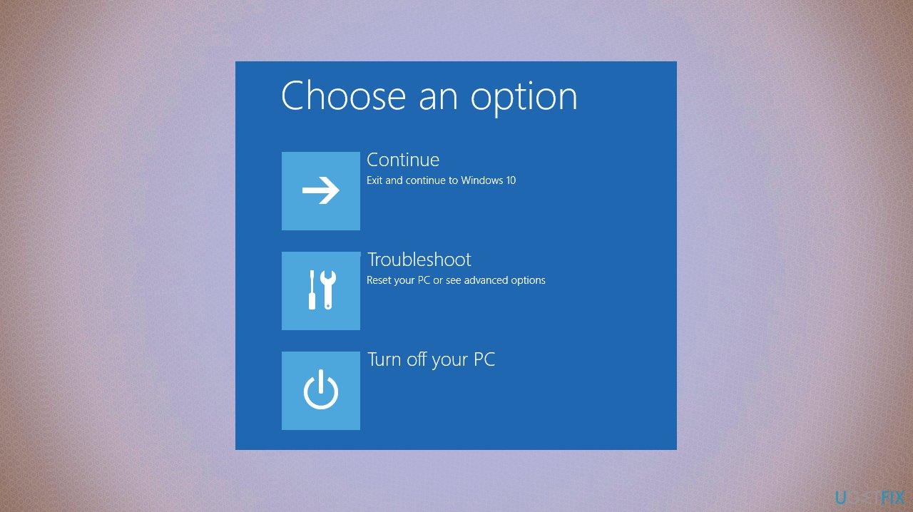 Choose the option