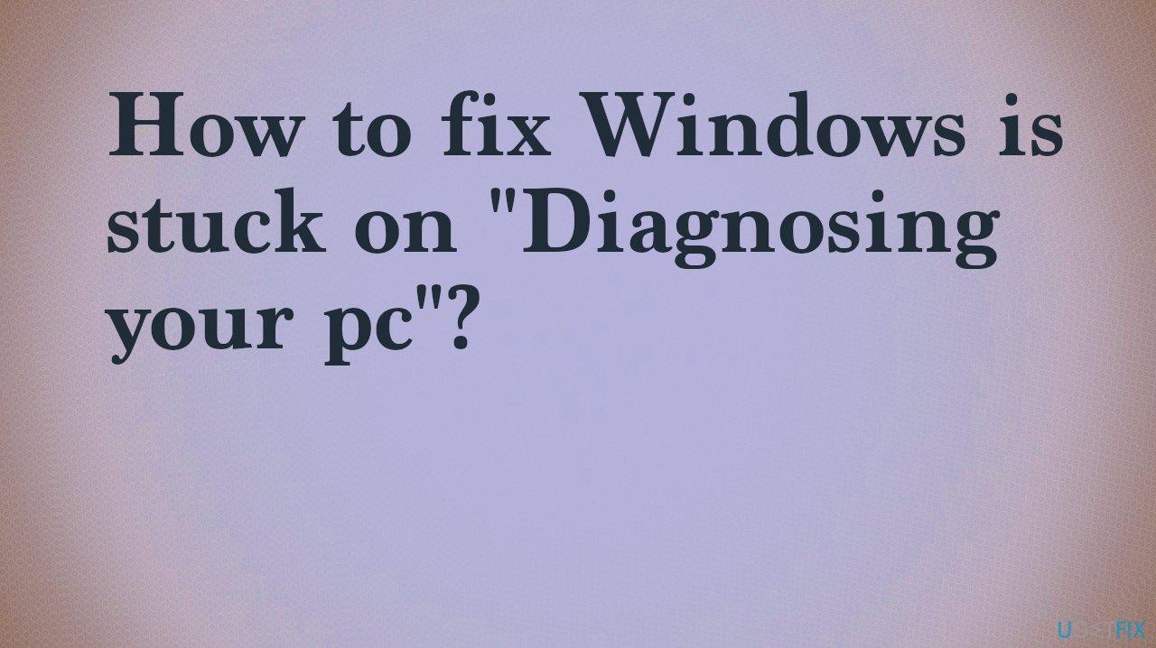 Diagnostic option stuck