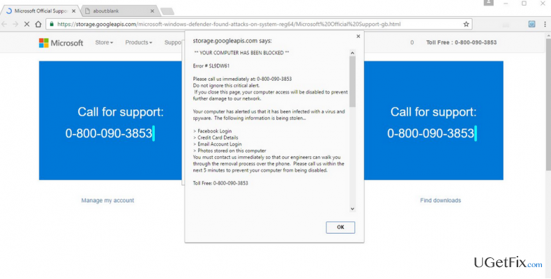 How to Fix Technical Support Scam Pop-Up Error # SL9DW61?