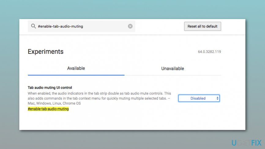 Tab audio muting UI control option