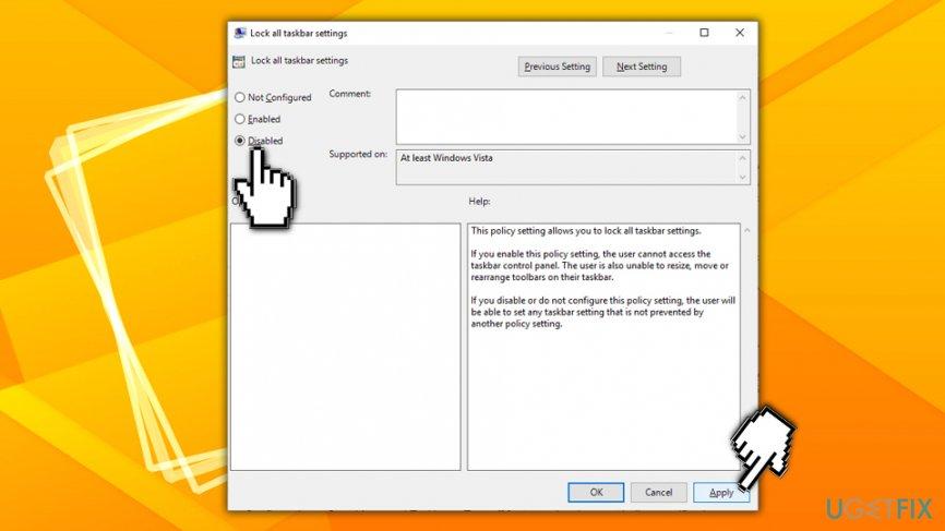 taskbar windows 10 not hiding